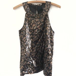 J Crew Collection Animal Print Tank Women's 6